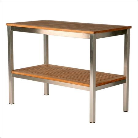Inox - wood table